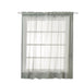 "2 Pack | 52""x84"" Silver Sheer Organza Curtains With Rod Pocket Window Treatment Panels"