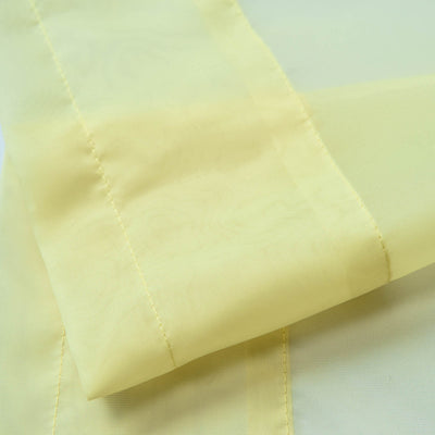 "52""x 84"" Yellow Pack of 2 Sheer Organza with Rod Pocket Window Treatment Curtain Panels"