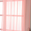 "Pack of 2 - 52""x96"" Rose Quartz Sheer Organza Curtains With Rod Pocket Window Treatment Panels"