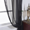 "Pack of 2 - 52""x96"" Black Organza Grommet Sheer Curtains Panels"