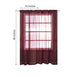 "2 Pack | 52""x96"" Burgundy Organza Grommet Sheer Curtains Panels"