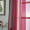 "52""x 96"" Burgundy Pack of 2 Sheer Organza with Rod Pocket Window Treatment Curtain Panels"