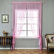 "Pack of 2 - 52""x96"" Pink Sheer Organza Curtains With Rod Pocket Window Treatment Panels"
