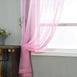 "52""x 96"" Pink Pack of 2 Sheer Organza with Rod Pocket Window Treatment Curtain PanelsaPack of 2 - 52""x96"" Pink Sheer Organza Curtains With Rod Pocket Window Treatment Panels"