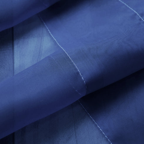 "52""x 96"" Royal Blue Pack of 2 Sheer Organza with Rod Pocket Window Treatment Curtain Panels"