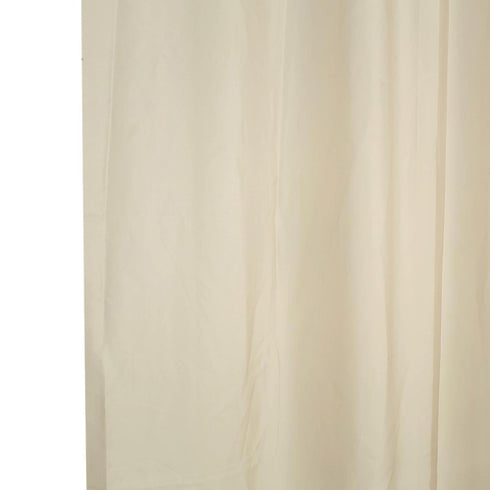 2 Pack | 5FTx10FT Natural Fire Retardant Sheer Organza Premium Curtain Panel Backdrops With Rod Pockets