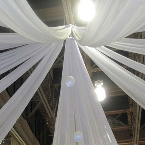 30ft White Ceiling Drapes Sheer Curtain Panels Fire
