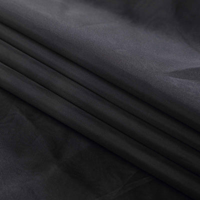 "30Ft Black Ceiling Drapes Sheer Curtain Panels Fire Retardant Fabric With 4"" Pocket"