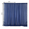 2 Pack | 5FTx10FT Navy Fire Retardant Sheer Organza Premium Curtain Panel Backdrops With Rod Pockets