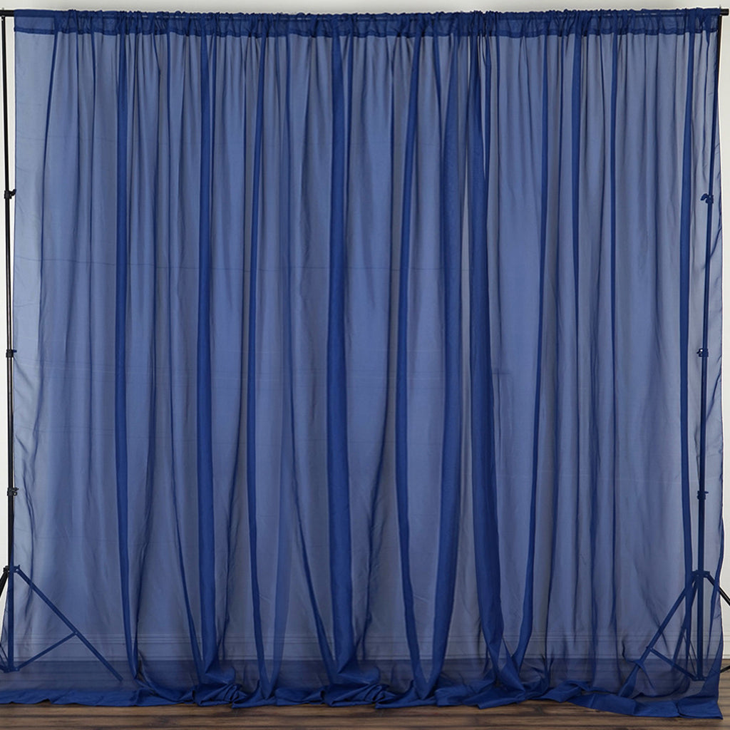 pack products blue panels organza curtains with x navy sheer pocket window curtain cur treatment rod of