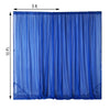 2 Pack | 5FTx10FT Royal Blue Fire Retardant Sheer Organza Premium Curtain Panel Backdrops With Rod Pockets