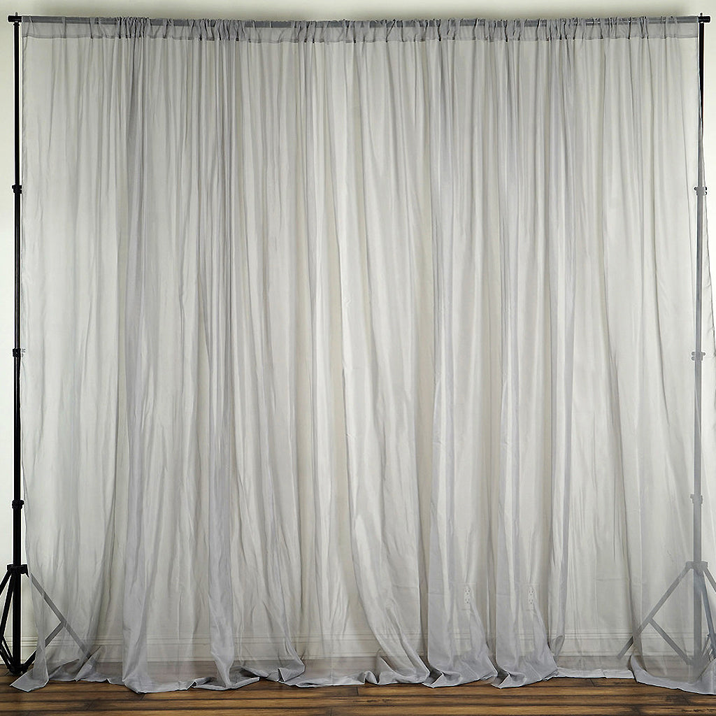sparkle top chicago ring voile metallic curtains itm curtain sheer eyelet panels