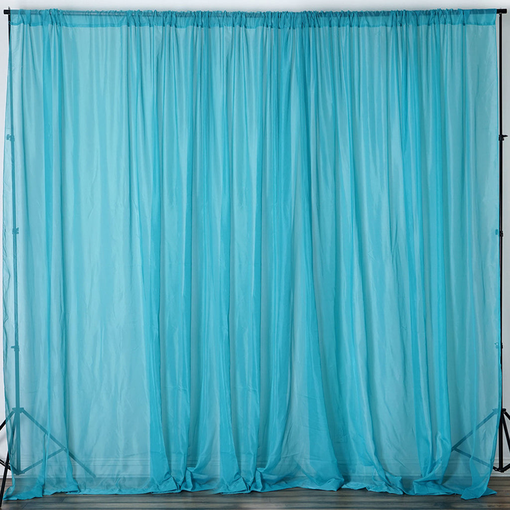 10ft x 10ft sheer organza curtain panel turquoise efavormart