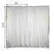 2 Pack | 5FTx10FT White Fire Retardant Sheer Organza Premium Curtain Panel Backdrops With Rod Pockets