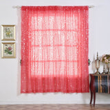 "2 Pack | 52""x84"" Coral Big Payette Sequin Curtains With Rod Pocket Window Treatment Panels"