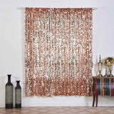 "2 Pack | 52""x84"" Big Payette Sequin Curtains With Rod Pocket Window Treatment Panels - Rose Gold 