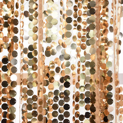 "Big Payette Sequin Curtains 52x84"" Gold Pack of 2 Window Treatment Panels With Rod Pockets"