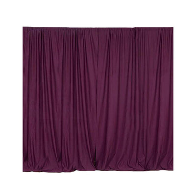 2 Pack | 5FTx10FT Eggplant Fire Retardant Polyester Curtain Panel Backdrops With Rod Pockets