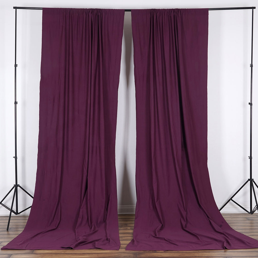 10FT Eggplant Polyester Fire Retardant Curtain Stage Backdrop Partition - Premium Collection