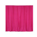2 Pack | 5FTx10FT Fushia Fire Retardant Polyester Curtain Panel Backdrops With Rod Pockets