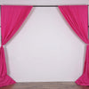 Set Of 2 Fushia Fire Retardant Polyester Curtain Panel Backdrops With Rod Pockets - 5FTx10FT