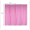 Pack of 2 | 5FTx10FT Pink Fire Retardant Polyester Curtain Panel Backdrops With Rod Pockets