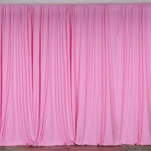 10FT Pink Scuba Polyester Wrinkle Free Curtain Stage Backdrop Partition - Premium Collection