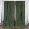 Pack of 2 | 5FTx10FT Willow Green Fire Retardant Polyester Curtain Panel Backdrops With Rod Pockets