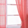 Pack of 2 | 52inch x 108inch Coral Sequin Curtains With Rod Pocket Window Treatment Panels