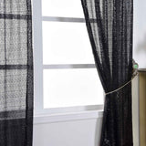 "Glitzy Sequin Curtains 52x96"" Black Pack of 2 Window Treatment Panels With Rod Pockets"