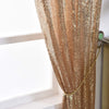 "Pack of 2 | 52""x96"" Champagne Sequin Curtains With Rod Pocket Window Treatment Panels"