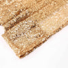 Pack of 2 | 52inch x 96inch Gold Sequin Curtains With Rod Pocket Window Treatment Panels