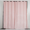 "Pack of 2 | 52""X108"" Rose Gold/Blush 330 GSM Premium Velvet Thermal Blackout Curtains With Chrome Grommet Window Treatment Panels"