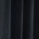"Blackout Curtains Premium Velvet 52""X108"" Black Pack of 2 Thermal Insulated With Chrome Grommet Window Treatment Panels"