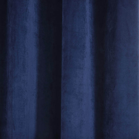 "Blackout Curtains Premium Velvet 52""X108"" Navy Blue Pack of 2 Thermal Insulated With Chrome Grommet Window Treatment Panels"