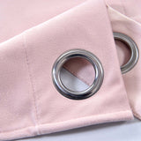 "Blackout Curtains Premium Velvet 52""X84"" Blush Pack of 2 Thermal Insulated With Chrome Grommet Window Treatment Panels"
