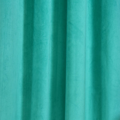 "Blackout Curtains Premium Velvet 52""X84"" Teal Pack of 2 Thermal Insulated With Chrome Grommet Window Treatment Panels"