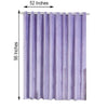 "Pack of 2 | 52""X96"" Lavender Premium Velvet Thermal Blackout Curtains With Chrome Grommet Window Treatment Panels"