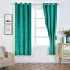 "Pack of 2 | 52""X96"" Teal Premium Velvet Thermal Blackout Curtains With Chrome Grommet Window Treatment Panels"