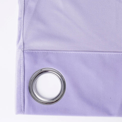 "Blackout Curtains Soft Velvet 52""x108"" Lavender Pack of 2 Thermal Insulated With Chrome Grommet Window Treatment Panels"