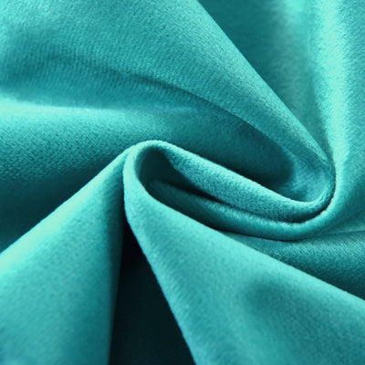 "Blackout Curtains Soft Velvet 52""x108"" Teal Pack of 2 Thermal Insulated With Chrome Grommet Window Treatment Panels"