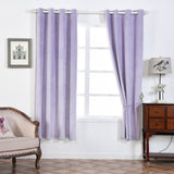 "Blackout Curtains Soft Velvet 52""x84"" Lavender Pack of 2 Thermal Insulated With Chrome Grommet Window Treatment Panels"