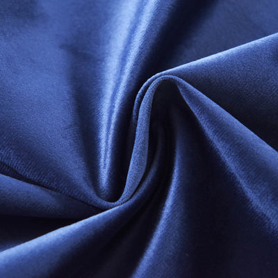 "Blackout Curtains Soft Velvet 52""x84"" Navy Blue Pack of 2 Thermal Insulated With Chrome Grommet Window Treatment Panels"
