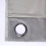 "Blackout Curtains Soft Velvet 52""x84"" Silver Pack of 2 Thermal Insulated With Chrome Grommet Window Treatment Panels"