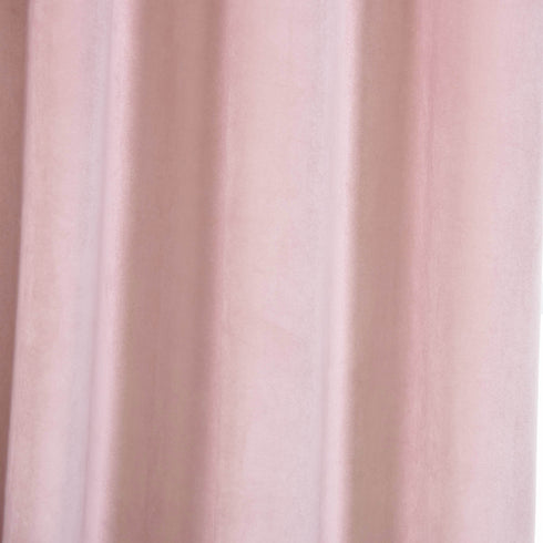 "Blackout Curtains Soft Velvet 52""x96"" Blush Pack of 2 Thermal Insulated With Chrome Grommet Window Treatment Panels"