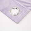 "Pack of 2 | 52""X96"" Lavender Soft Velvet Thermal Blackout Curtains With Chrome Grommet Window Treatment Panels"