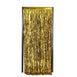 8ft Gold Metallic Foil Shimmer Fringe Curtain