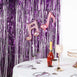 8ft Purple Metallic Foil Shimmer Fringe Curtain