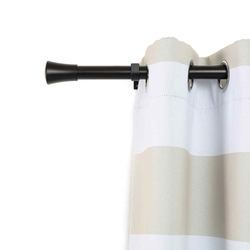 Curtain Rods | Metal Adjustable Curtain Rods | Trumpet Finials