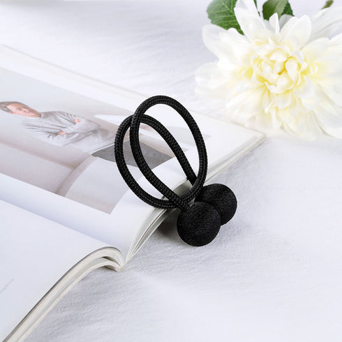 Pack of 2 | Black Magnetic Curtain Tie Backs for Window Curtains and Drapes